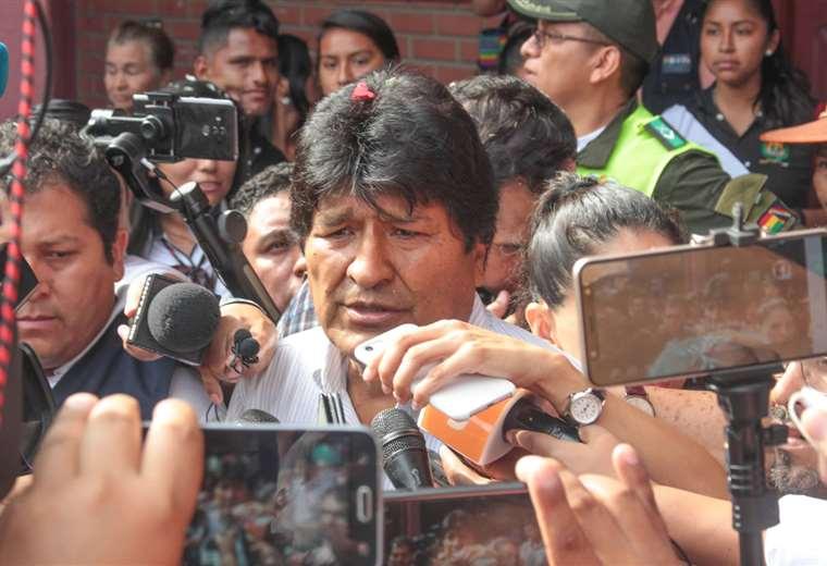 Evo Morales se declaró, el domingo por la noche, ganador de los comicios dos horas después de que el Órgano Electoral detuviera el conteo rápido de votos   Foto: ABI