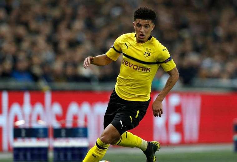 Jadon Sancho, del Dortmund, fue multado por indisciplina. Foto: As