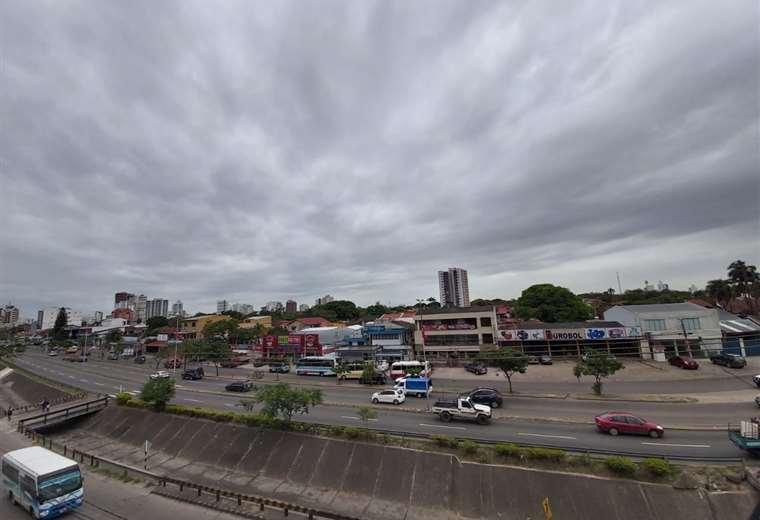 Así está el ambiente en la capital cruceña. Foto: Diego Jaramillo