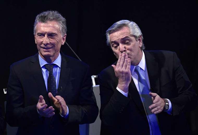 Los candidatos a la presidencia de Argentina, Mauricio Macri y Alberto Fernández | Foto: AFP