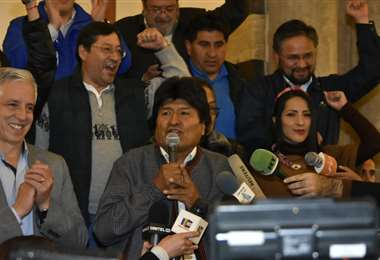 Morales se pronunció en Palacio Quemado I Foto: APG Noticias.