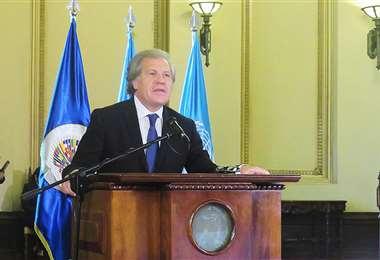 El secretario general de la OEA, Luís Almagro respondió hoy la carta de Diego Pary (OEA)