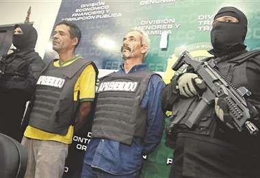 Los detenidos tienen antecedentes penales por tráfico de armas en su país. Foto: HERNAN VIRGO