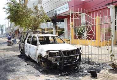 las instalaciones del Tribunal Electoral Departamental de Pando fueron quemadas
