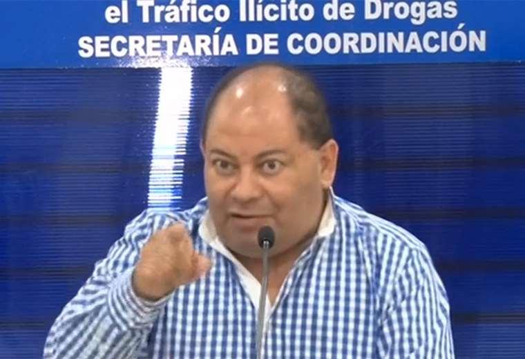 Carlos Romero brindó la conferencia de prensa en el Conaltid en Santa Cruz