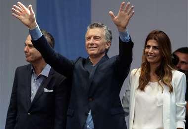 Macri se refirió a Bolivia durante un acto en Jujuy. Foto AFP