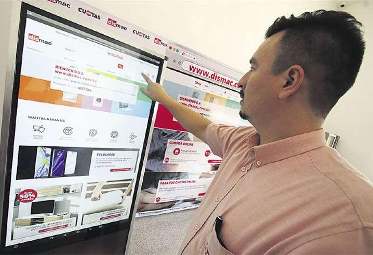 Destacadas. En Bolivia, Multicenter, Dismac, Materiales y Farmacorp cuentan con tiendas virtuales. De acuerdo con expertos, el interés de las firmas locales por contar con este canal de ventas está aumentado