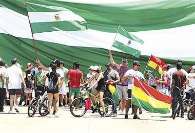 El núcleo de la protesta contra el Gobierno se centra en la capital oriental y en Potosí