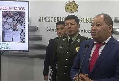 Romero dijo que identificaron a gente con dinamitas. Foto APG