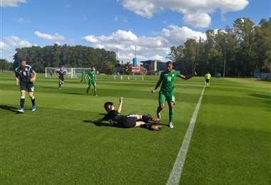Monteiro (18) marcó el único gol de la Verdecita ante Argentina. Foto. Prensa FBF