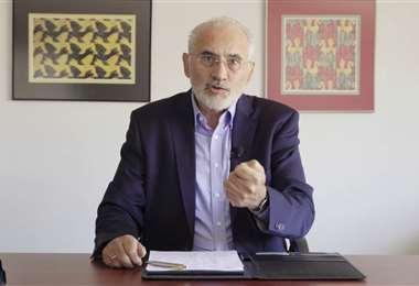 Carlos Mesa señaló que mostrará pruebas del fraude en los próximos días (Captura)