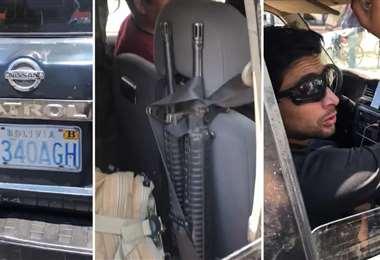 Imagen del vehículo y uno de sus ocupantes