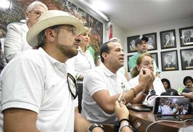 Luis Fernando Camacho brindó una conferencia de prensa este miércoles en el Comité