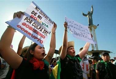 Santa Cruz vive una jornada de paro I Foto: APG Noticias.