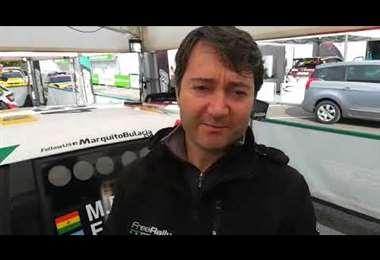 Paolo Piras, jefe mecánico del equipo de Marquito Bulacia