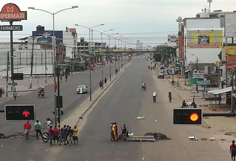 Así lucen varias calles y avenidas de la capital cruceña. (Foto: Rolando Villegas)
