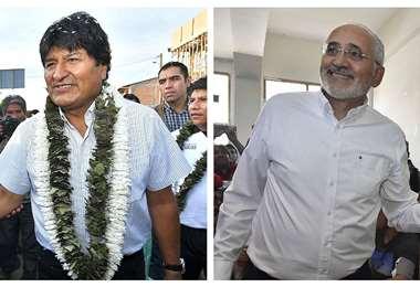 Evo Morales y Carlos Mesa