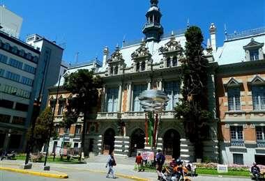 La reunión se desarrolló en el Palacio Consistorial de La Paz. Foto: Alcaldía de La Paz