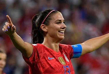 Alex Morgan, goleadora de la selección Estados Unidos. Foto: AFP