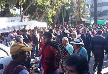 Para hoy se convocó a una movilización de seguidores del MAS en Cochabamba. Foto: Humberto Ayllon