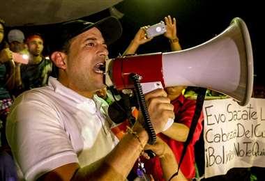 Camacho confirma que el paro continúa en Santa Cruz. Foto Mauricio Melgar