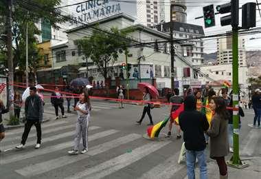 En la Sopocachi, la gente salió a bloquear