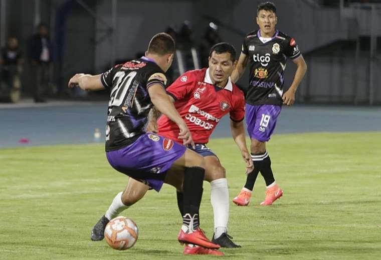 Del partido entre Real Potosí con Wilstermann. Foto: APG