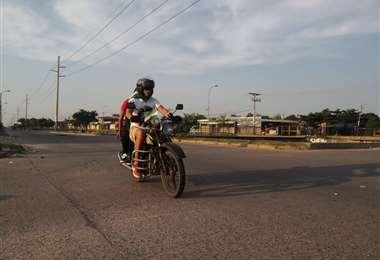 Las motos son una opción muy usada durante el paro
