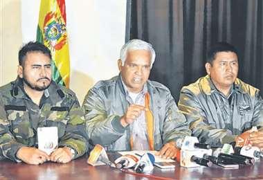 Los militares pasivos llamaron a los políticos a unir esfuerzos. foto: APG NOTICIAS