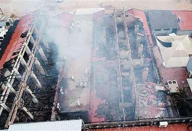 Kettels, presidenta del TED, indicó que el edificio de la institución será demolido por los daños ocasionados. Foto: FUAD LANDÍVAR