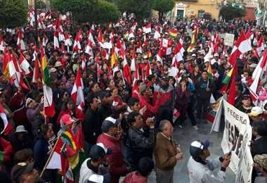 La marcha en Potosí fue de una gran cantidad de personas. Foto: Juan Carlos Salinas