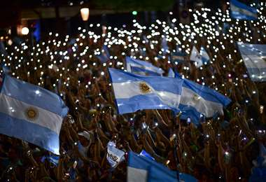 Este domingo hay elecciones en Argentina. Foto: AFP