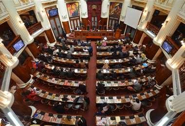 El hemiciclo del Legislativo en La Paz I Foto: Vicepresidencia.