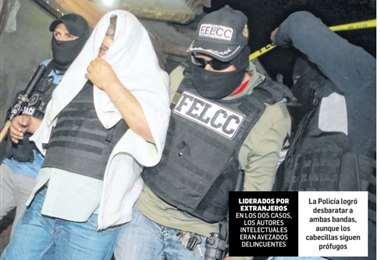 La Policía logró desbaratar a ambas bandas, aunque los cabecillas siguen prófugos. Foto: Rolando Villegas