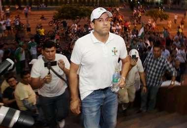 Camacho habló de la situación de sus empresas. Foto: Jorge Gutiérrez