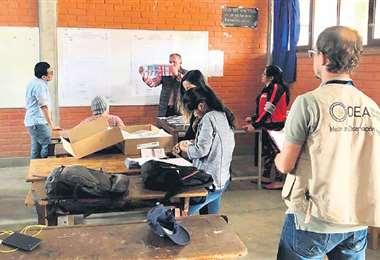 Técnicos de la OEA estuvieron en Bolivia y conocen el sistema, dijo el viceministro Benjamín Blanco. Foto: EL DEBER