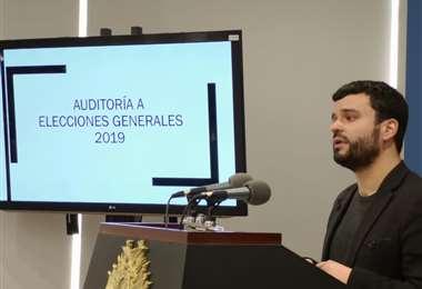 La autoridad brindó declaraciones en la Casa Grande del Pueblo I Foto: Presidencia.
