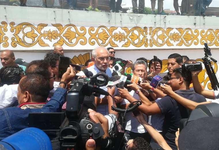 El expresidente llegó a Santa Cruz para reunirse con diferentes sectores I Foto: EL DEBER.