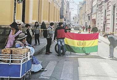En Oruro, que sigue en paro, ayer se realizaron dos movilizaciones