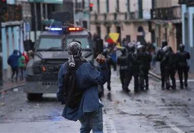 Este jueves se registraron disturbios en la ciudad de Quito. Foto AFP