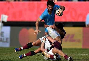 La selección de Rugby de Uruguay buscará un nuevo triunfo ante Australia. Foto. AFP