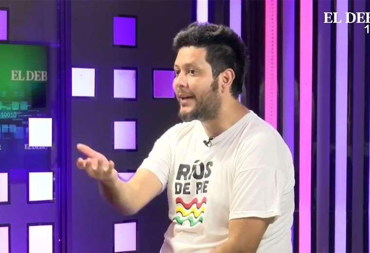 Federico Morón estuvo en el set de El Deber Streaming (captura)