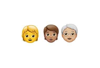 Emojis de género neutro de Apple