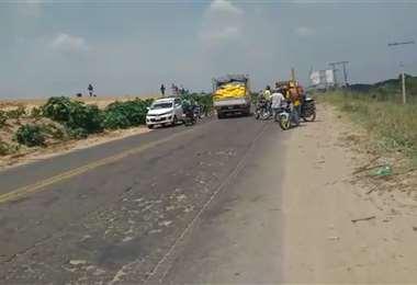 Se reportan enfrentamientos en Montero (Imagen: Captura)
