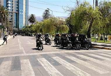 La Policía esta desplegada en la zona norte para evitar enfrentamientos (Humbero Ayllón)
