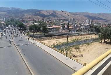 El puente Muyurina fue escenario de enfrentamientos (Foto: Humberto Ayllón)