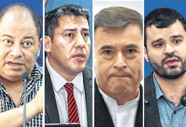 Los ministros Romero, Zavaleta, Quintana y Canelas forman parte del equipo del Gobierno para encarar la crisis