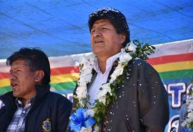 El jefe de Estado pide no entrar en confrontación I Foto: ABI.