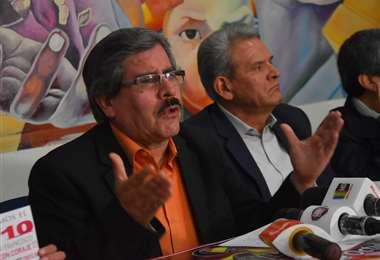 Albarracín adelantó la pacificación del país será posible con unas nuevas elecciones. Foto APG