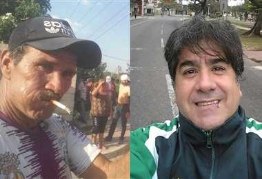 Mario Salvatierra S. (izq.) y Marcelo Terrazas S. perdieron la vida en Montero